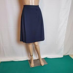 Jones New York Navy Pleated Midi Skirt size 6